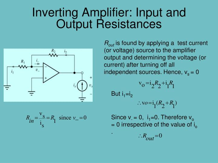 Inverting Amplifier: Input and Output Resistances