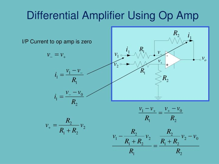 Differential Amplifier Using Op Amp