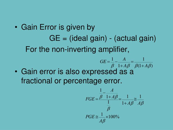 Gain Error is given by