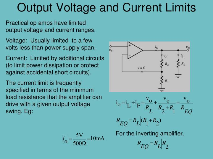 Output Voltage and Current Limits