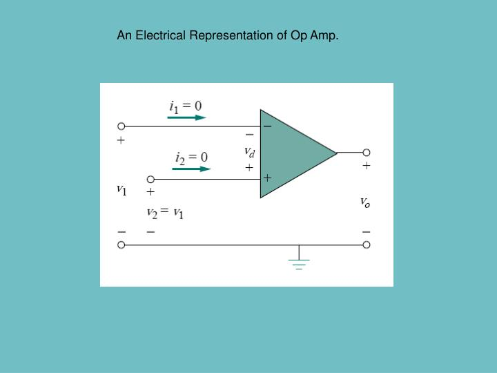 An Electrical Representation of Op Amp.