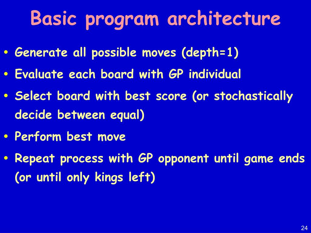 Basic program architecture