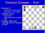 features example fork