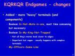 kqrkqr endgames changes
