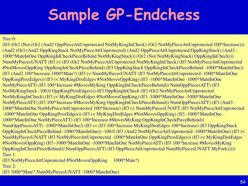 Sample GP-Endchess