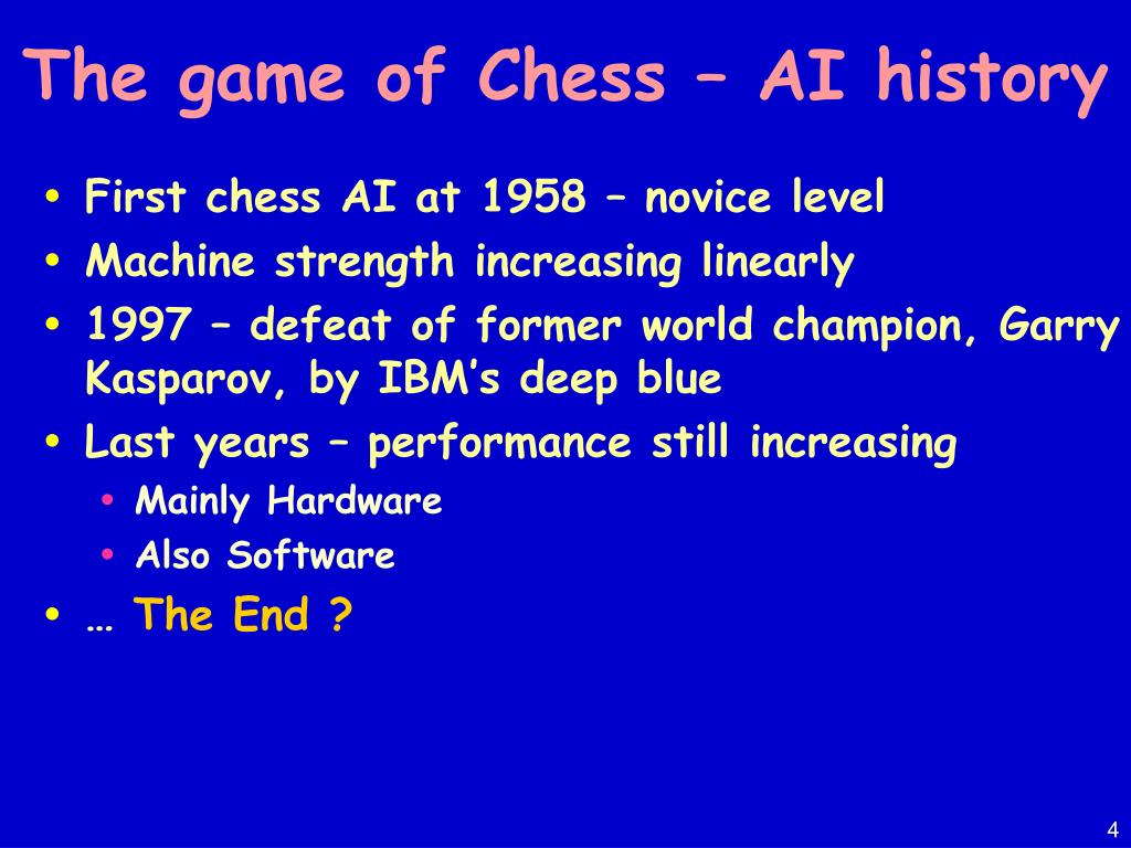 The game of Chess – AI history