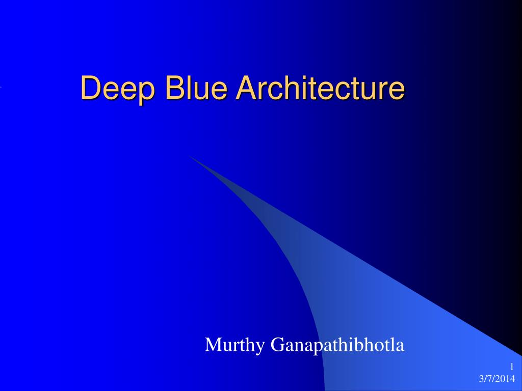 deep blue architecture l.