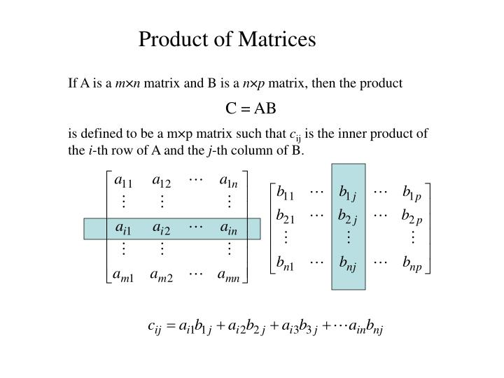 Product of Matrices
