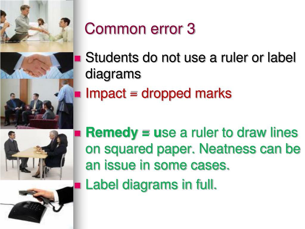 Common error 3