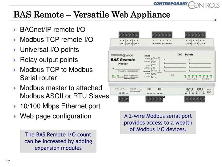 BAS Remote – Versatile Web Appliance