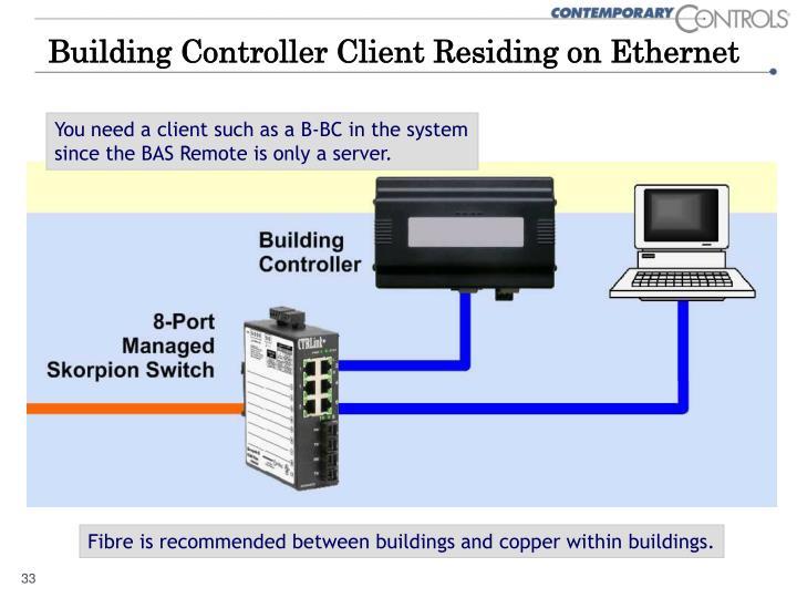 Building Controller Client Residing on Ethernet