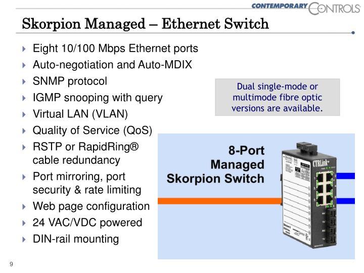 Skorpion Managed – Ethernet Switch