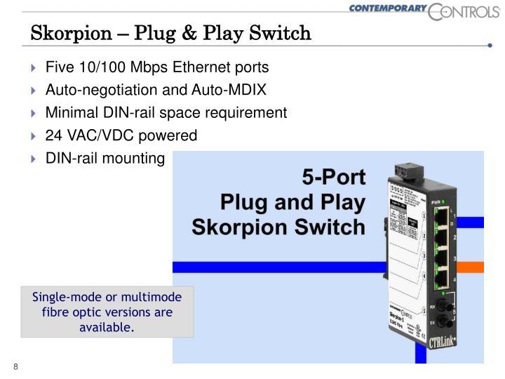 Skorpion – Plug & Play Switch