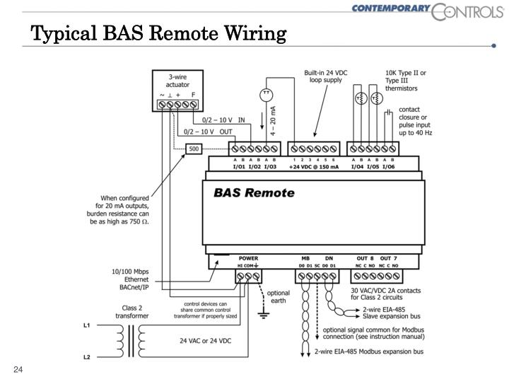 Typical BAS Remote Wiring