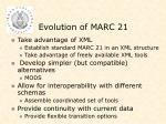 evolution of marc 21