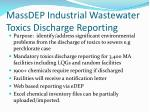 massdep industrial wastewater toxics discharge reporting