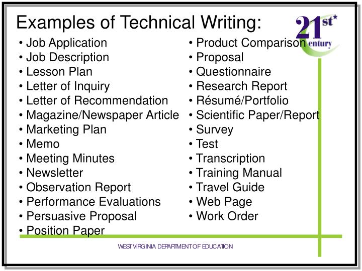 example of recommendation report in technical writing