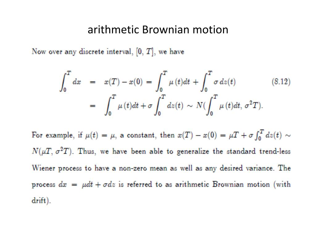 arithmetic Brownian motion