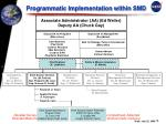 programmatic implementation within smd