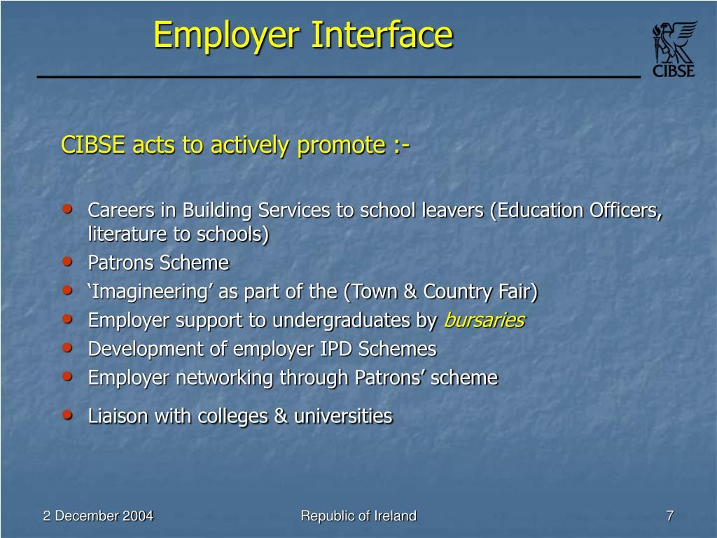 Employer Interface