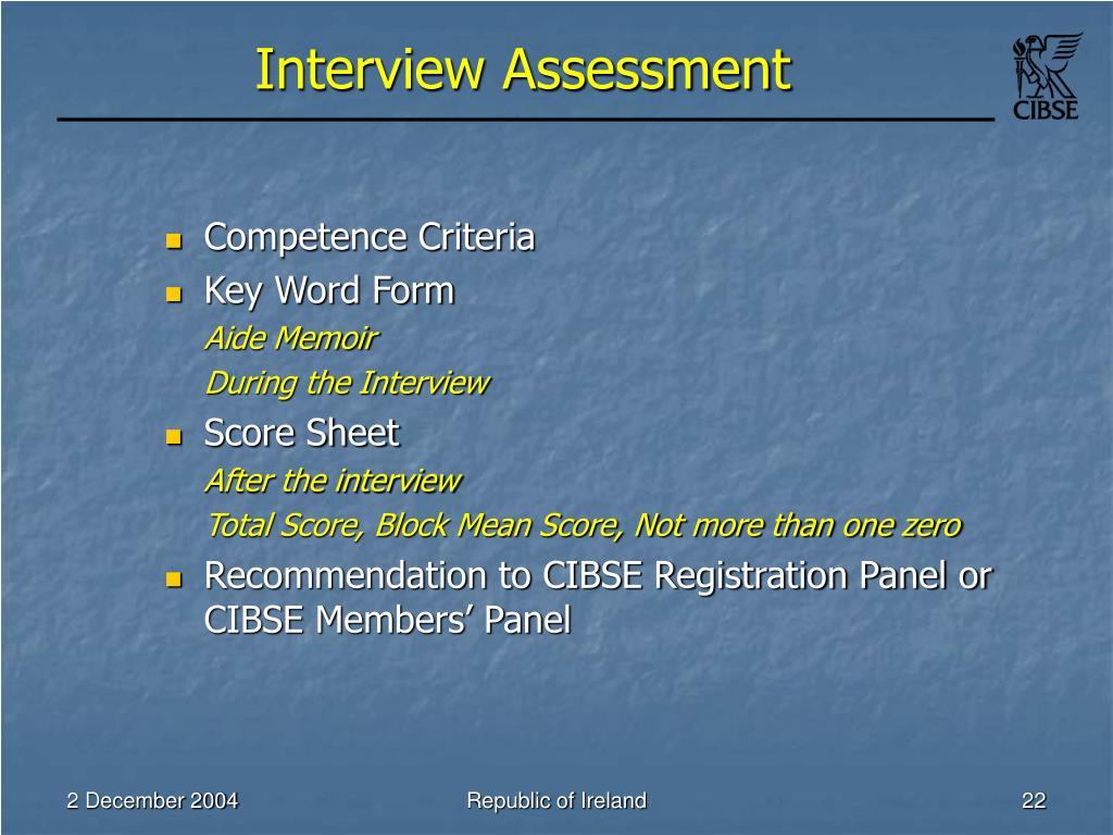 Interview Assessment
