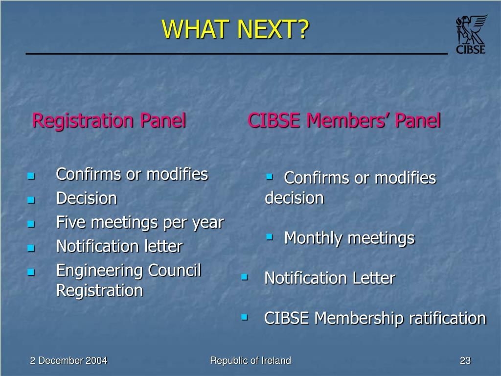 Registration Panel