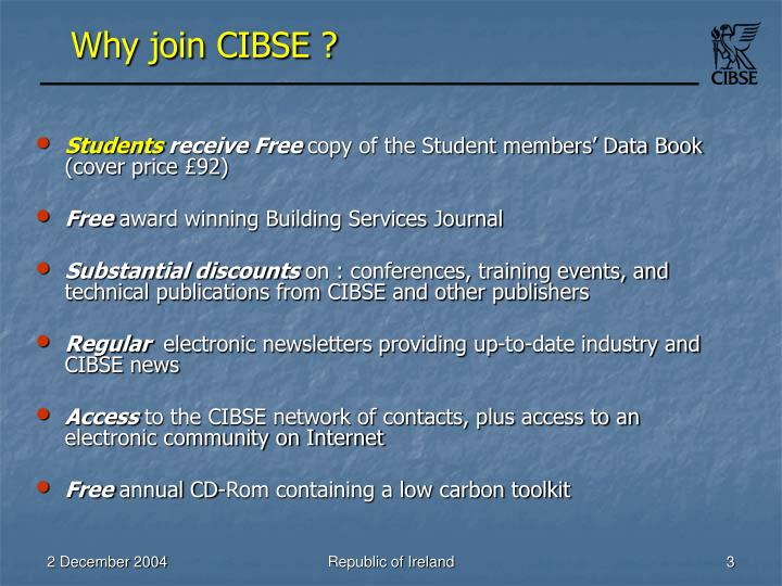 Why join cibse