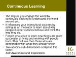 continuous learning