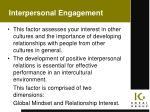 interpersonal engagement