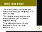 relationship interest