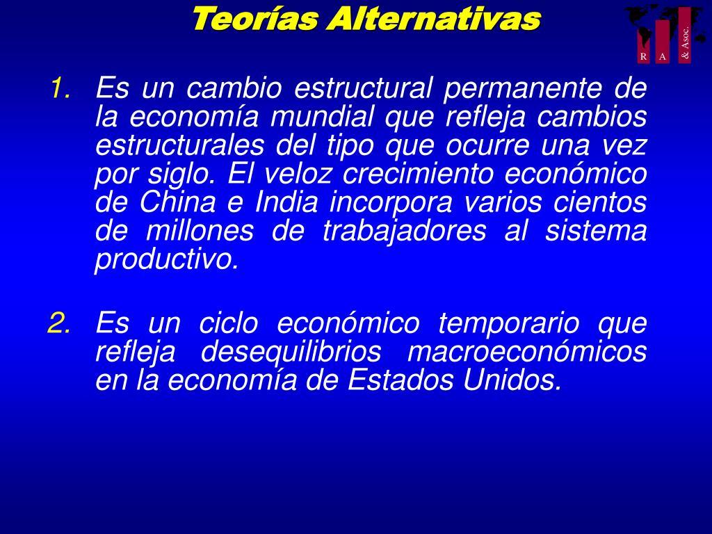 Teorías Alternativas