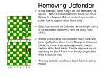 removing defender