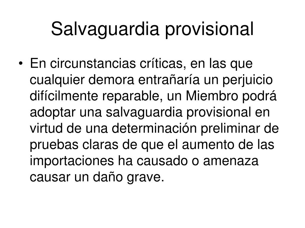 Salvaguardia provisional