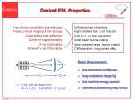 desired erl properties