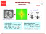 diffraction microscopy recent results