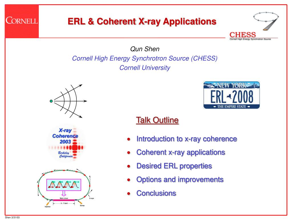 erl coherent x ray applications l.