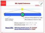 erl spatial coherence