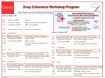 x ray coherence workshop program
