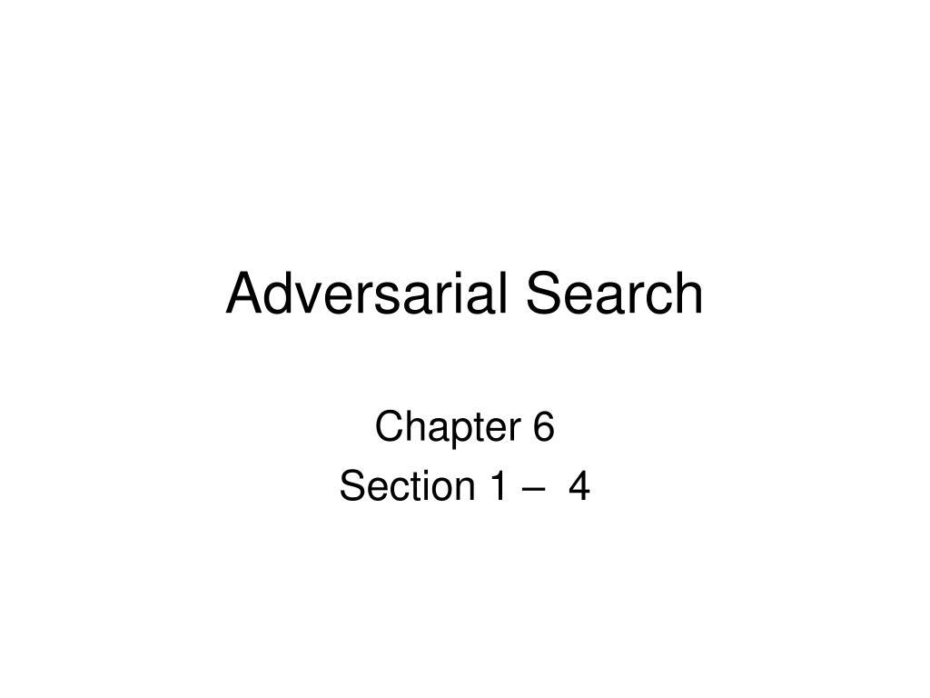 adversarial search l.