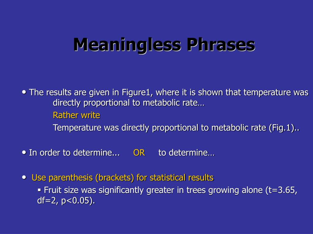 Meaningless Phrases