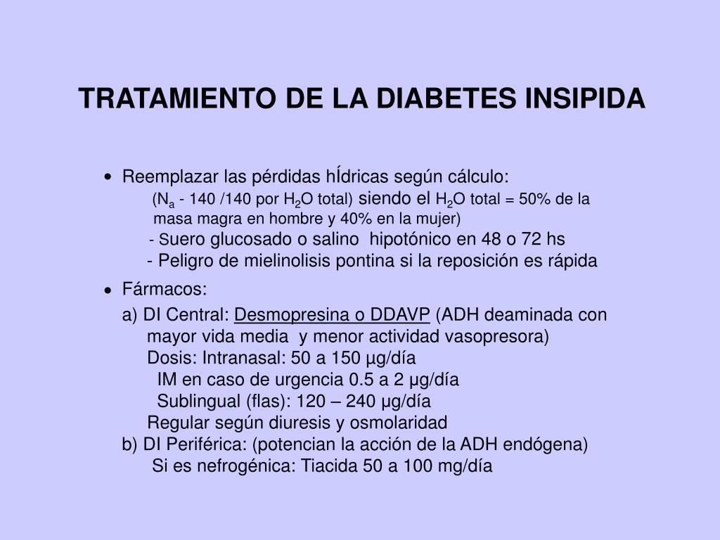 diabetes insípida nephrogenique tratamiento du