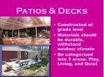 patios decks
