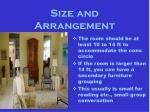 size and arrangement10