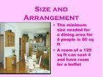 size and arrangement16