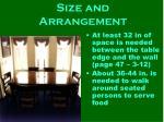 size and arrangement18