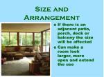 size and arrangement8