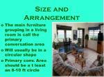 size and arrangement9