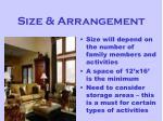 size arrangement