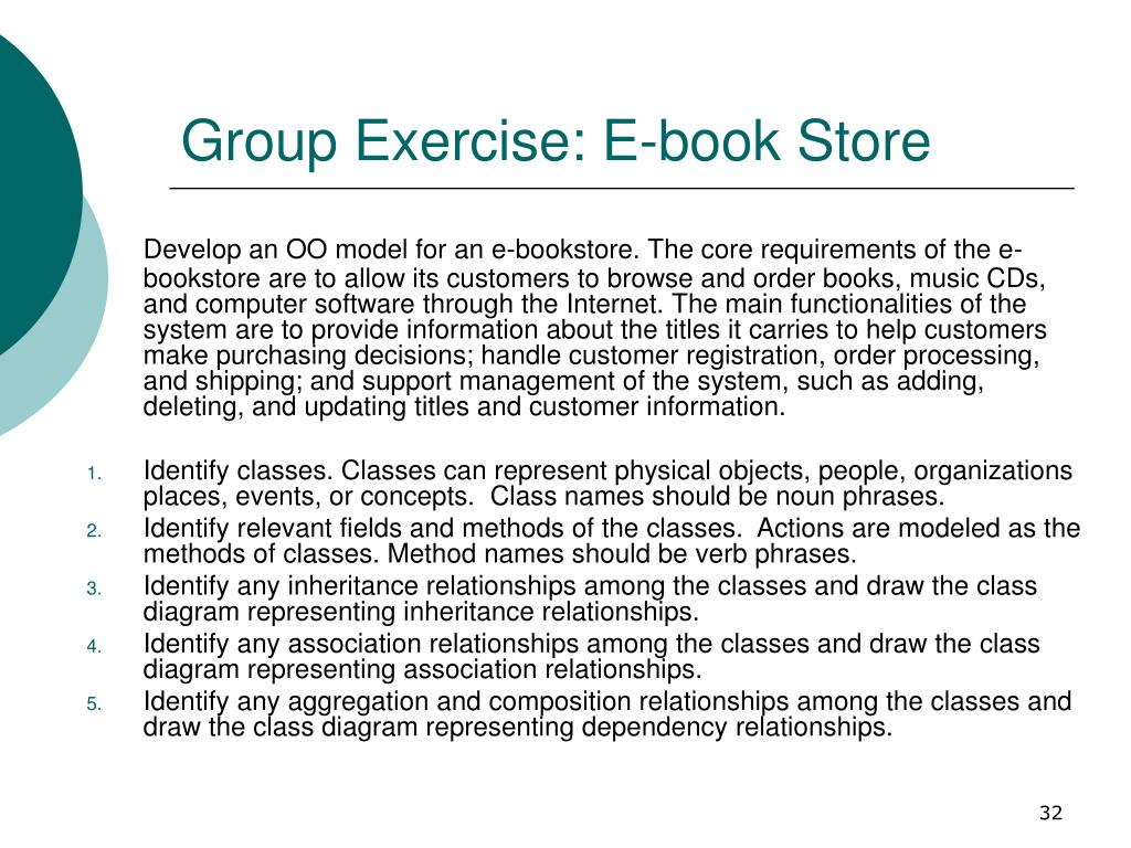 Group Exercise: E-book Store