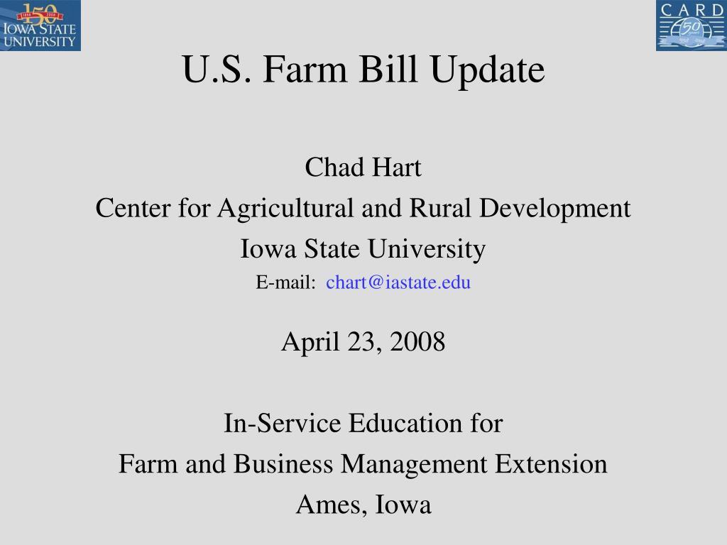 u s farm bill update l.